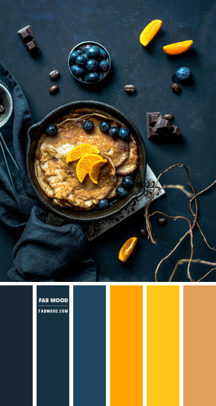 Blueberry and Yellow Color Scheme – Color Palette #72
