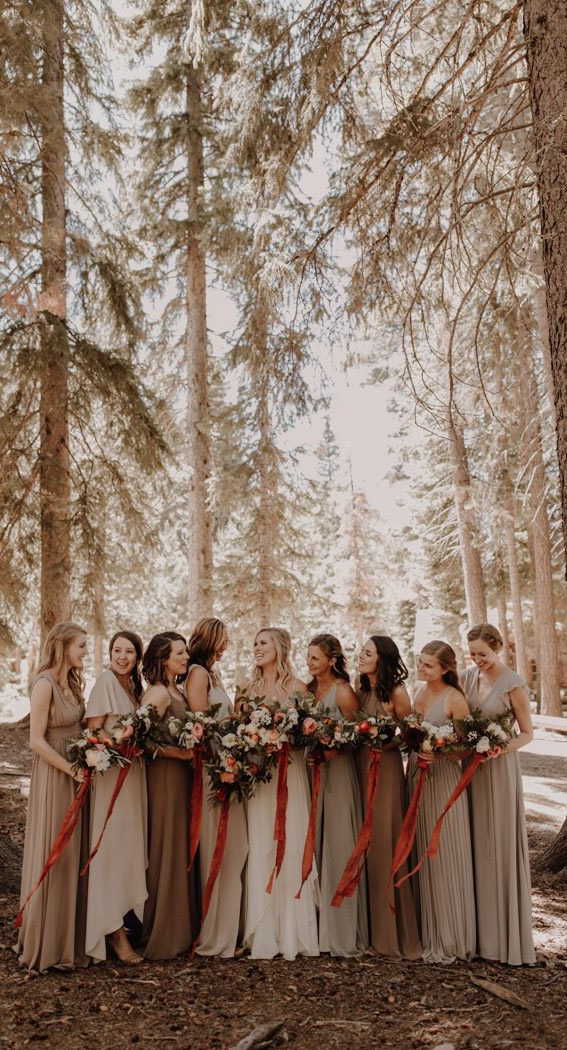 earth tones bridesmaid dresses, bridesmaid dresses #bridesmaid
