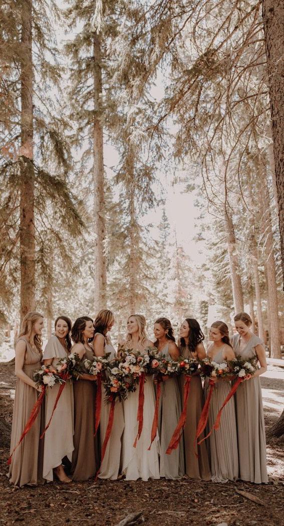 earth tones bridesmaid dresses, bridesmaid dresses #bridesmaid