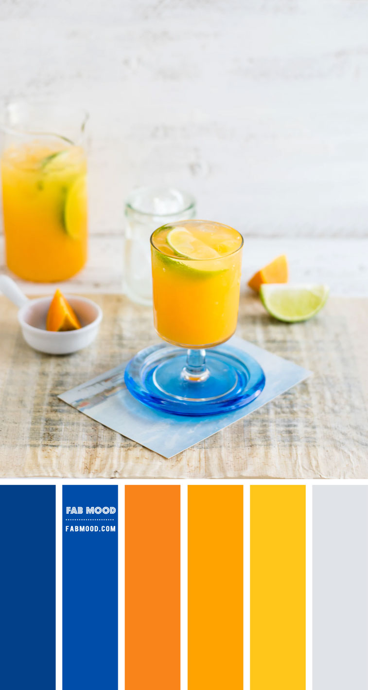 Cobalt Blue, Orange and Yellow Color Scheme – Color Palette #71