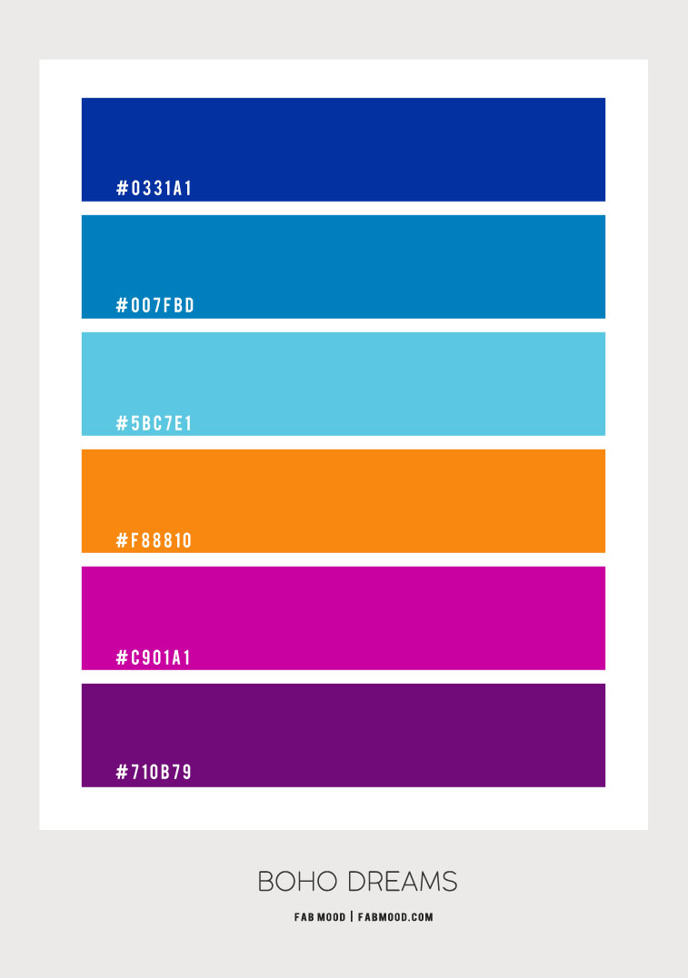 bold color palette 2020, bold color scheme, royal blue color scheme, cobalt blue pink and orange color scheme, royal blue orange hot pink and purple color palette, cobalt blue and purple color scheme