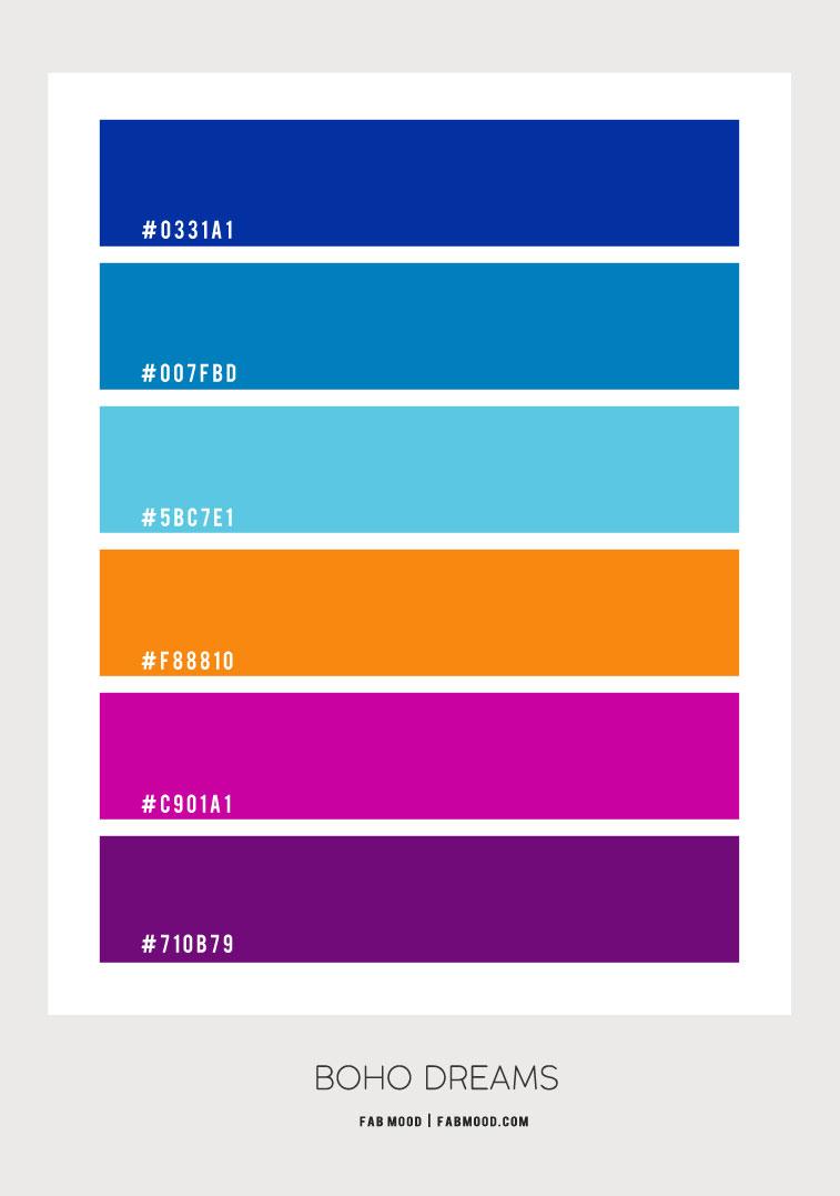 Royal Blue Magenta Orange And Purple Color Scheme