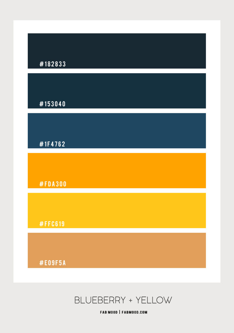 blueberry and yellow color scheme, dark blue and yellow color scheme, navy blue and yellow color scheme, color palette, blueberry color palette, blue and yellow color palette