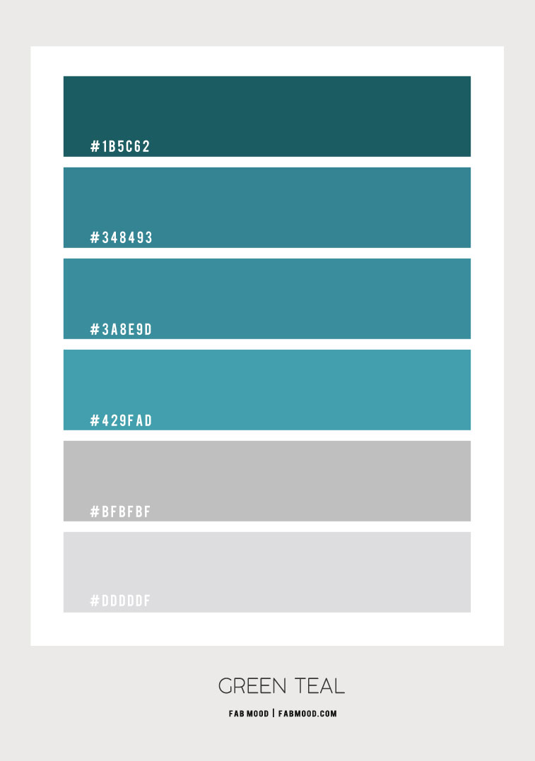 green teal and grey color scheme, green teal color , teal and grey color combo, teal and grey color palette