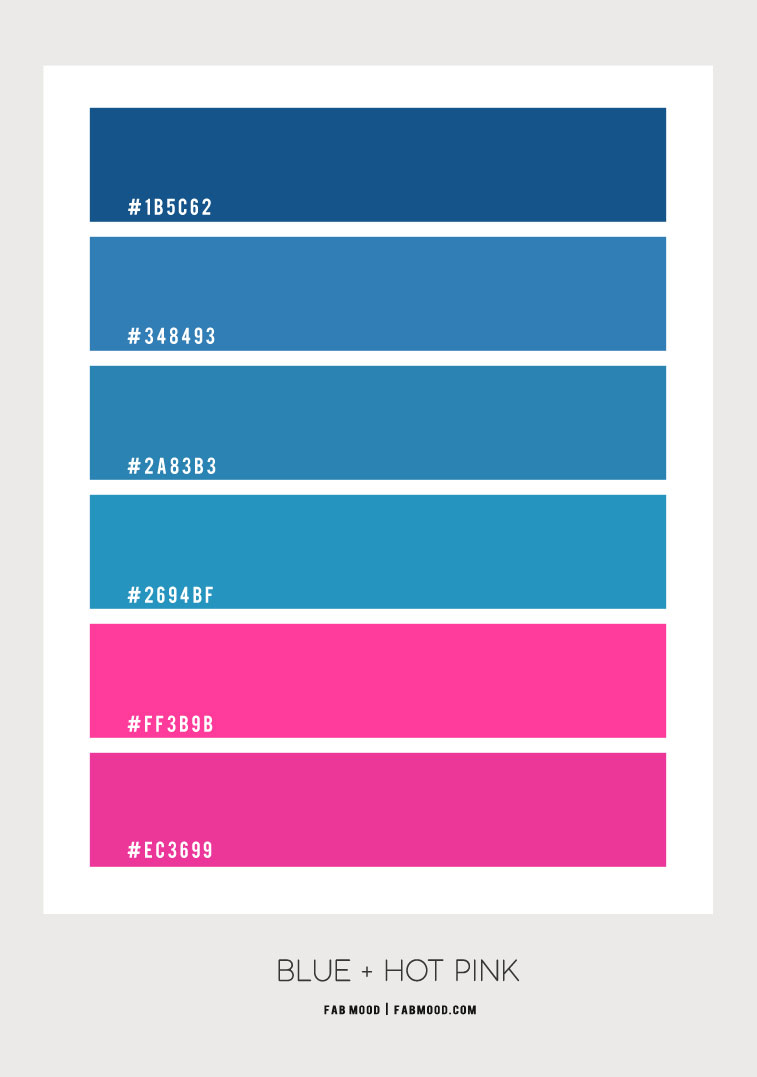 blue and hot pink color scheme, blue and hot pink color combo, blue and hot pink color palette, blue and hot pink color combinations, blue and hot pink colors