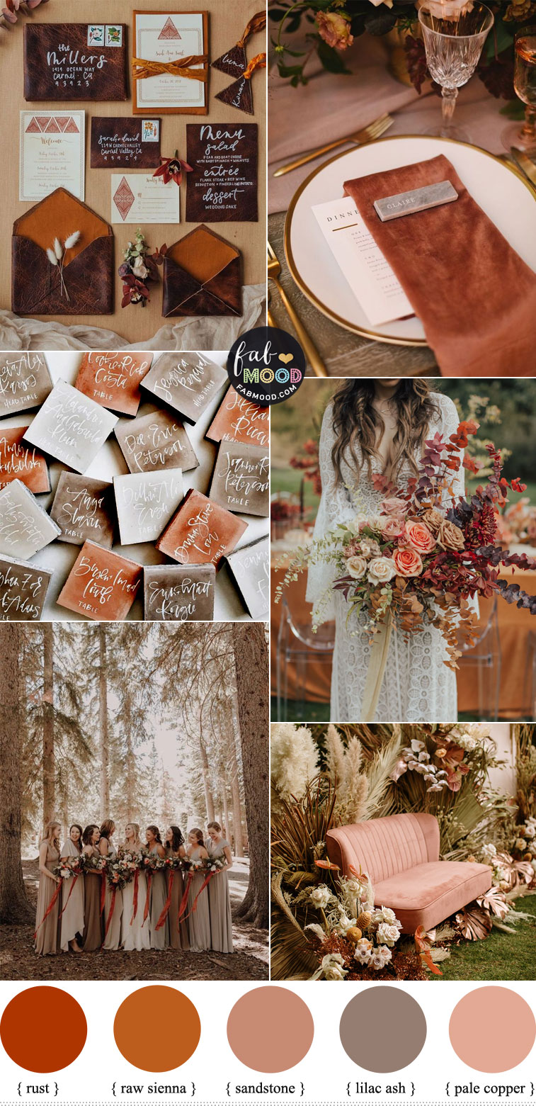 Earthy Toned Wedding Colour Palette