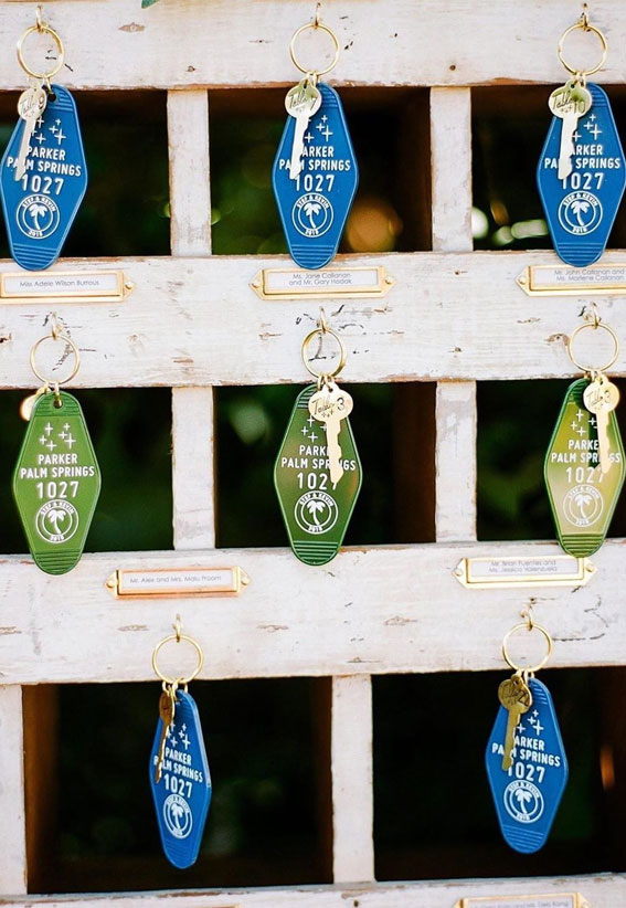 Key Wedding Escort Cards