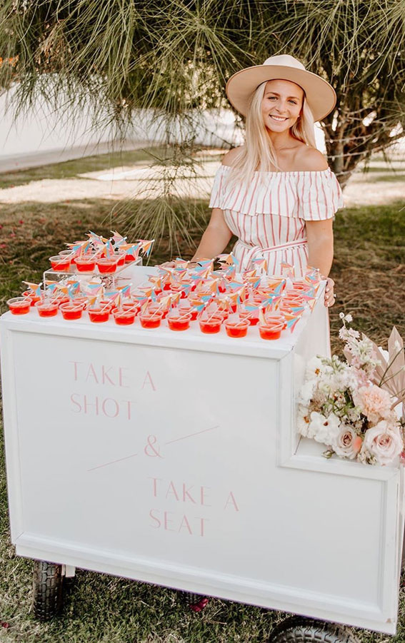 Best Escort Cards & Displays – Drink Cart Escort Card Display