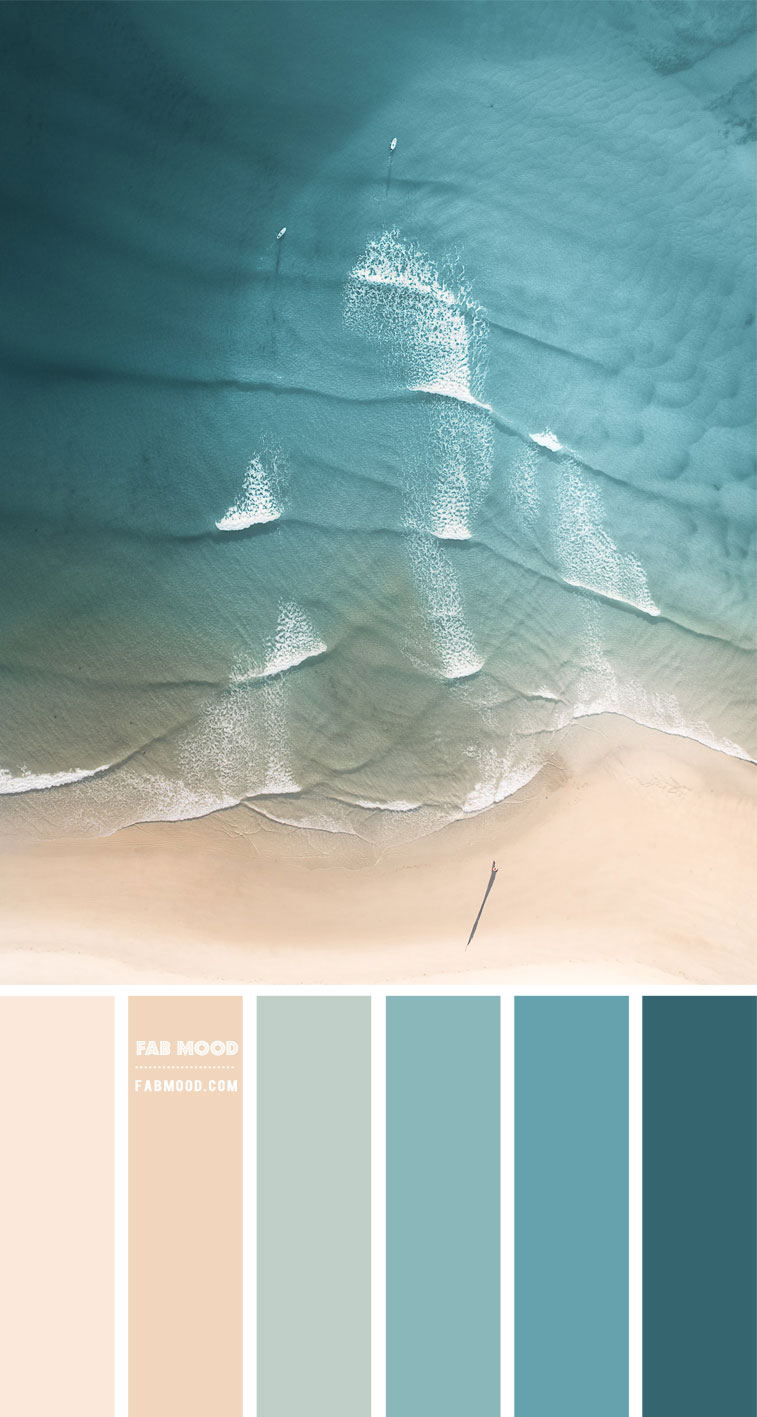 Green Ocean and Warm Taupe Color Scheme – Color Palette #76