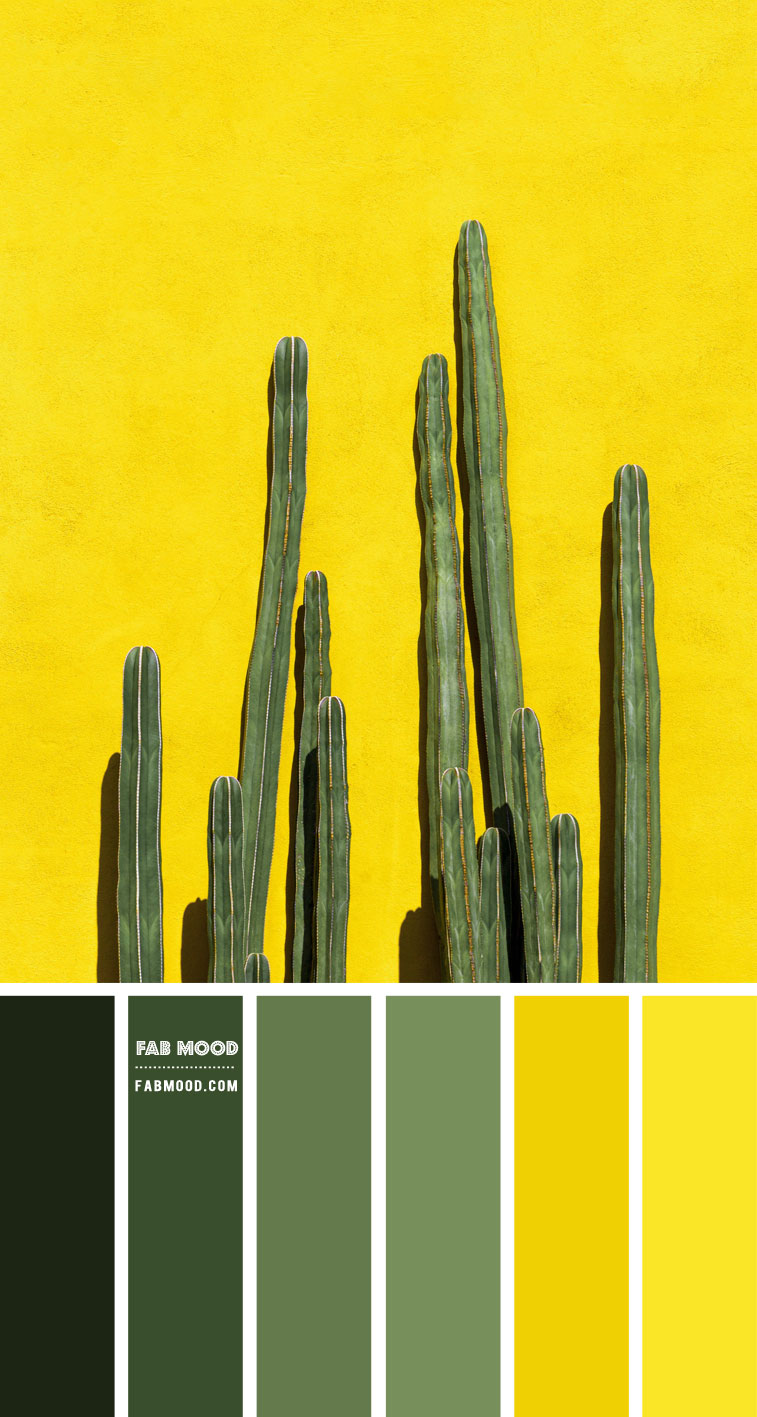Green and Yellow Colour Scheme – Colour Palette #82