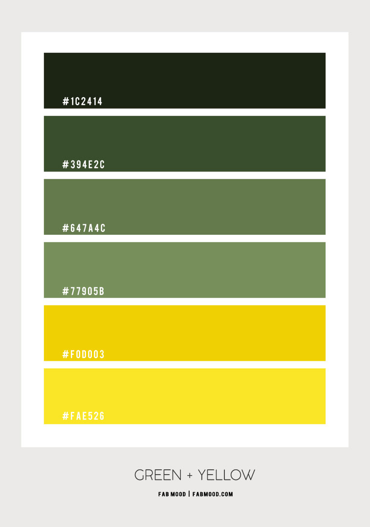 green and yellow colour palette, green and yellow colour scheme, green and yellow color combos #colorscheme #colorcombo