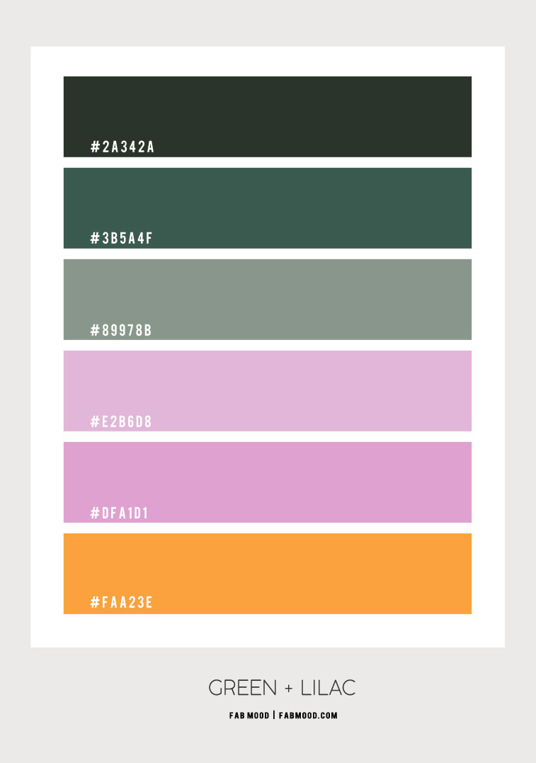 green and lilac color palette, green and lilac , lilac and sage , sage color , pink and sage color combo #color #colorscheme, sage green and pink lilac