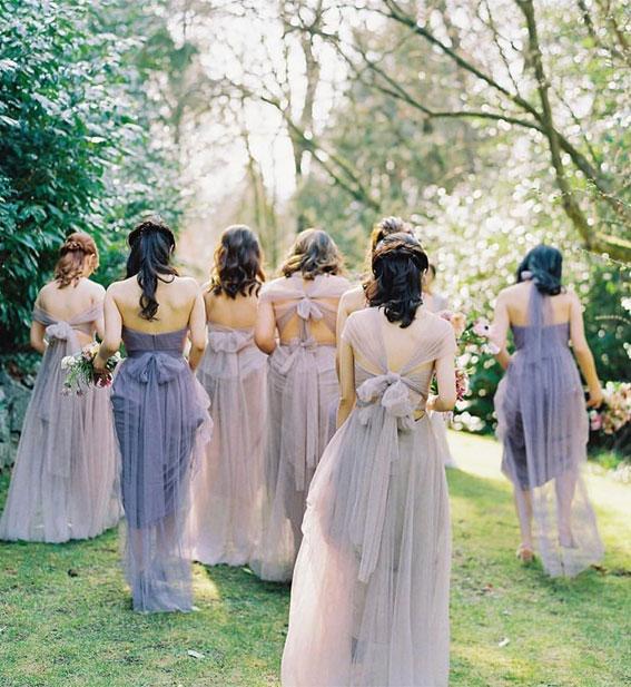 lavender bridesmaid dresses, mix and match bridesmaid dresses