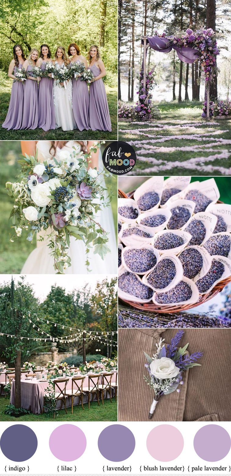 Lavender and Lilac Wedding Colours For Romantic Brides
