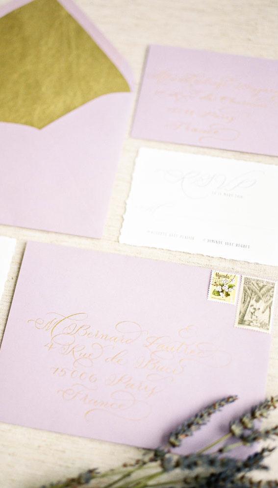 wedding invitations, wedding invitation ideas, wedding ideas, lavender wedding ideas