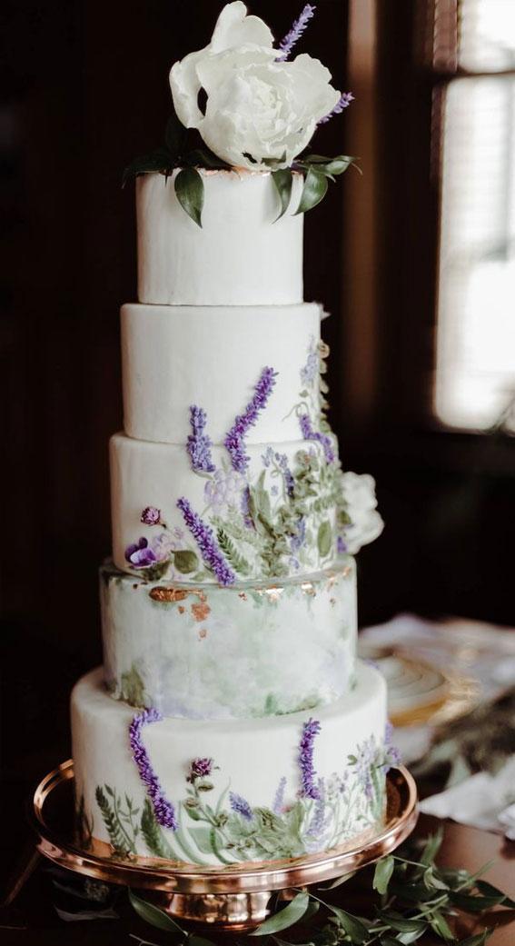 lavender hued wedding cake, wedding cake , wedding cake inspiration