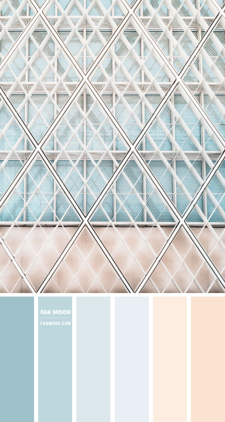 pastel color , pastel color palette, pastel color scheme, pastel color combo, light blue and peach, light blue and peach color scheme