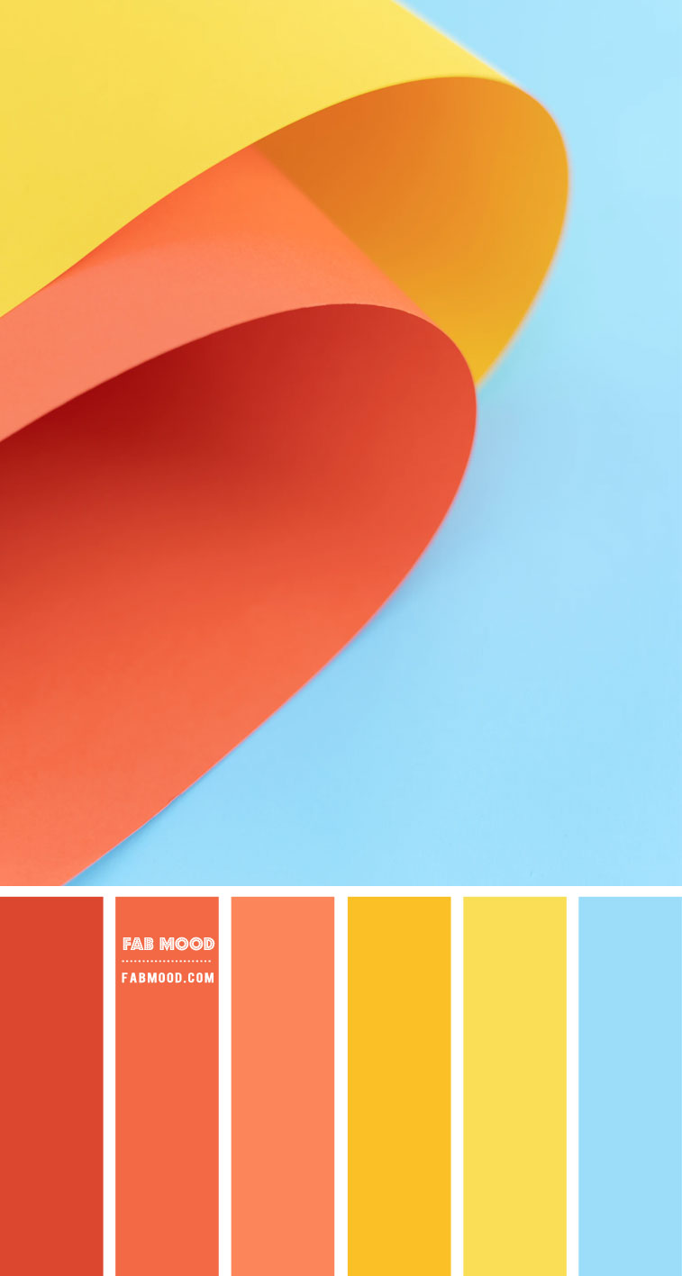 summer color palette, summer color scheme, orange yellow and blue color combo, orange yellow and blue color combination, blue and yellow color scheme, peach orange color scheme #colorscheme #colorpalette #color #summercolor