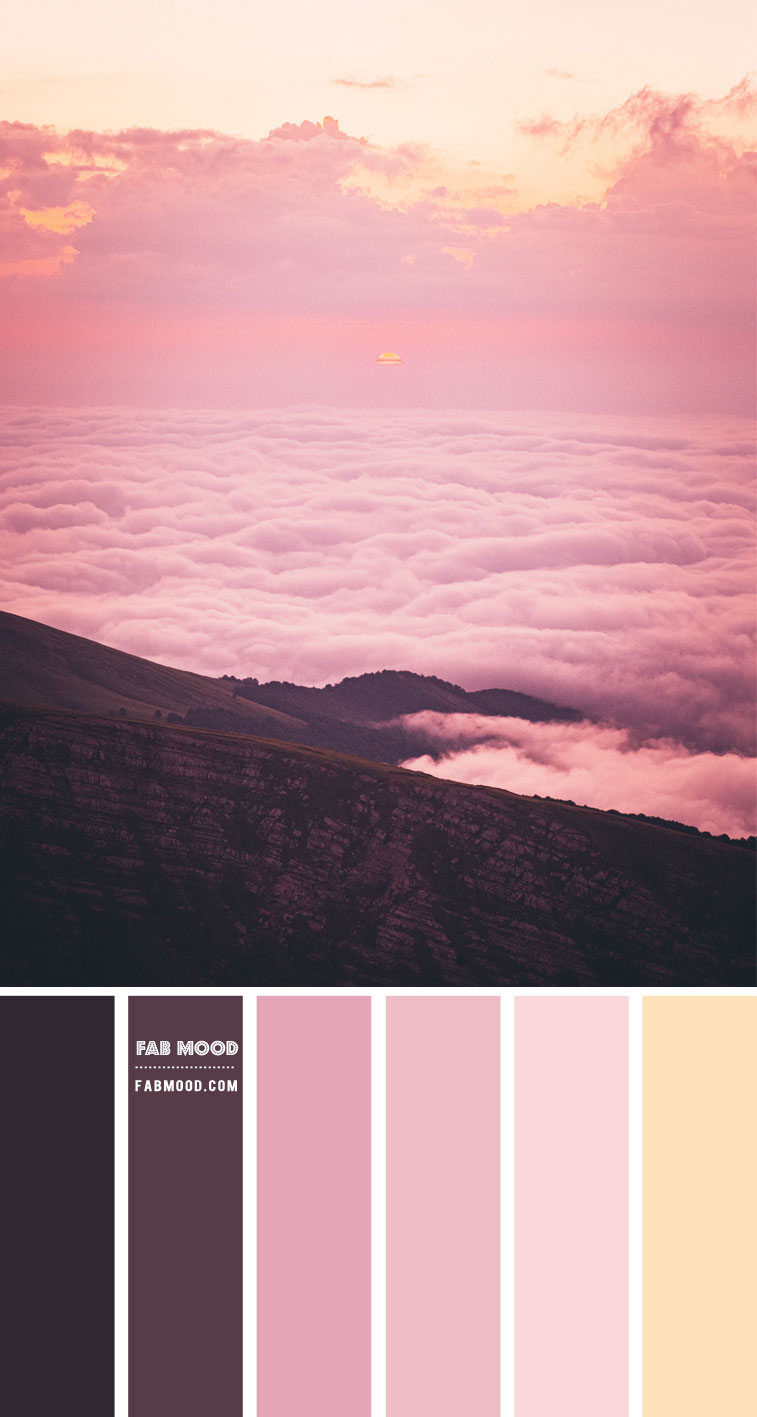 plum and pink colour scheme, pink sky , pink sky color palette, mauve pink color palette, mauve pink color scheme, color combo, color hex