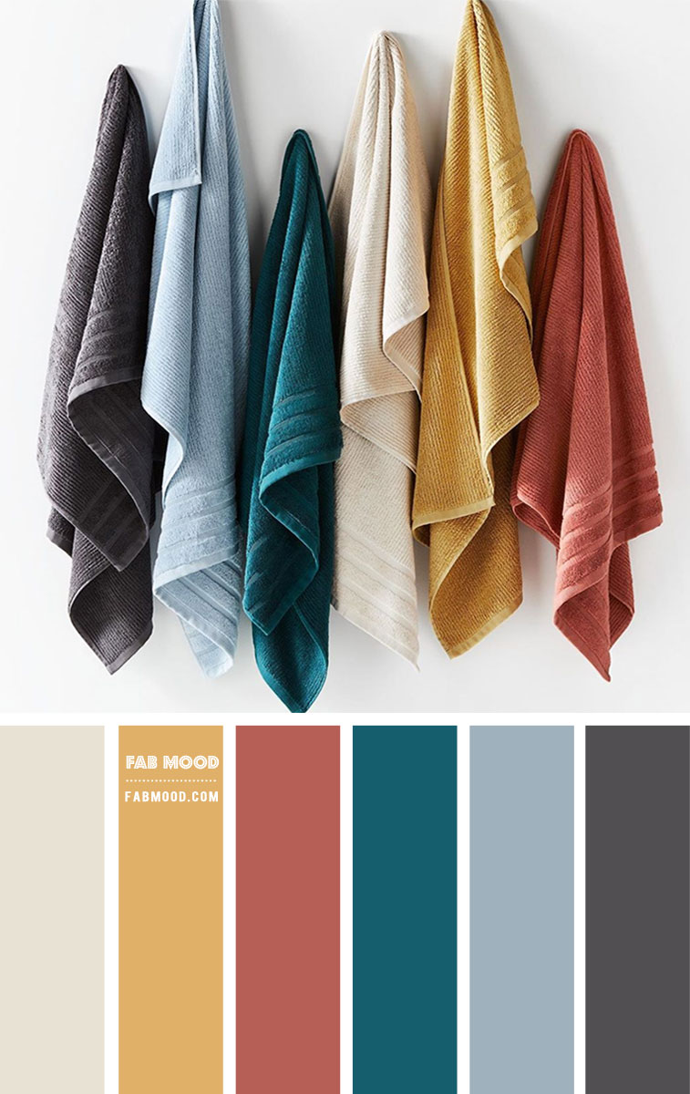 Bathroom Towel Color Combinations  – Colour Palette #94