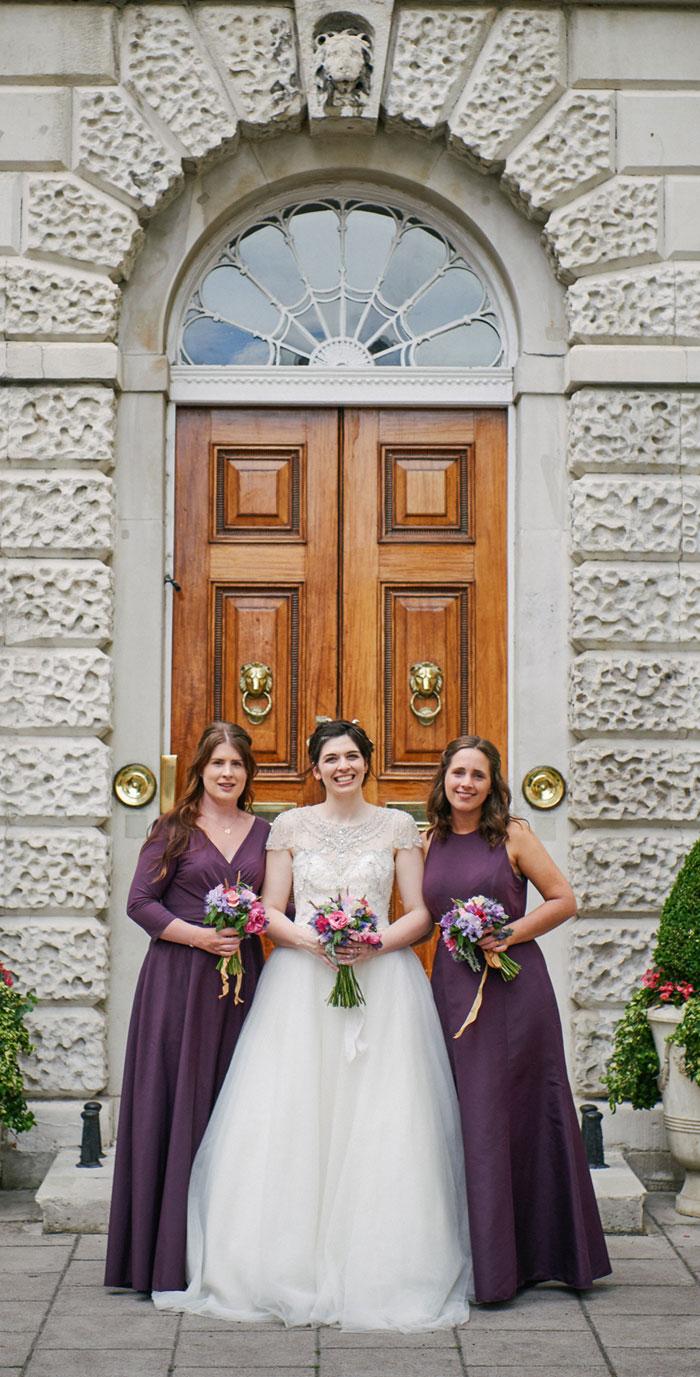 purple bridesmaid dresses, bridesmaid in berry shades, london wedding , mayfair wedding , summer wedding , summer wedding in london, church wedding , july wedding