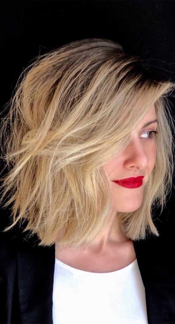 lob haircut with side bang, lob haircut 2020, lob hairstyle 2020, lob vs bob, lob haircut with layers, bob hairstyles, lob with bangs, blunt bob, blonde lob
