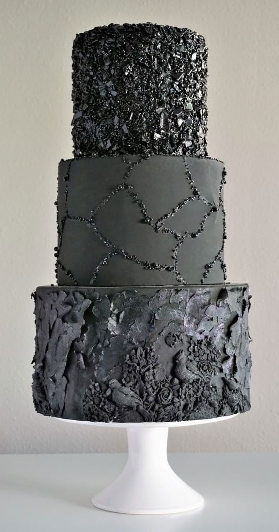 best black wedding cake, black and white wedding cakes, gothic wedding cake, black wedding cake toppers, black and white wedding cakes with bling, black and gold wedding cake, dark wedding cakes, black buttercream wedding cake, black wedding cakes 2020
