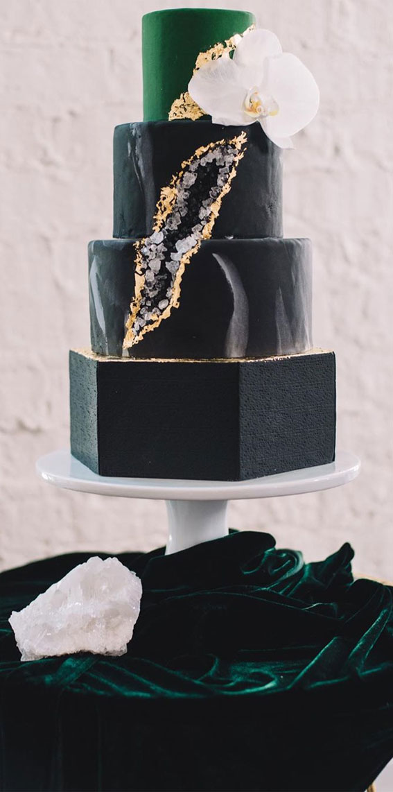 best black wedding cake,  black and gold wedding cake, dark wedding cakes, black buttercream wedding cake, black wedding cakes 2020
