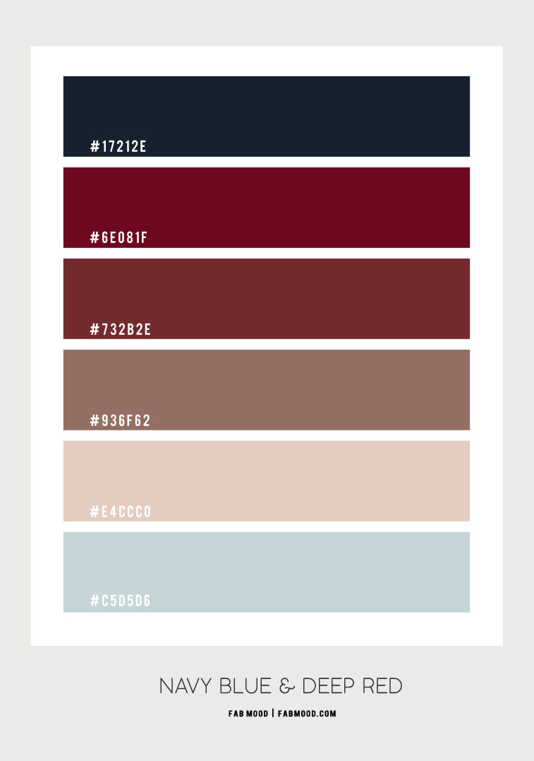 navy blue and deep red colour scheme, navy blue and burgundy color scheme, color combo, navy blue, deep red, color scheme , colour palette, navy blue and deep red color palette