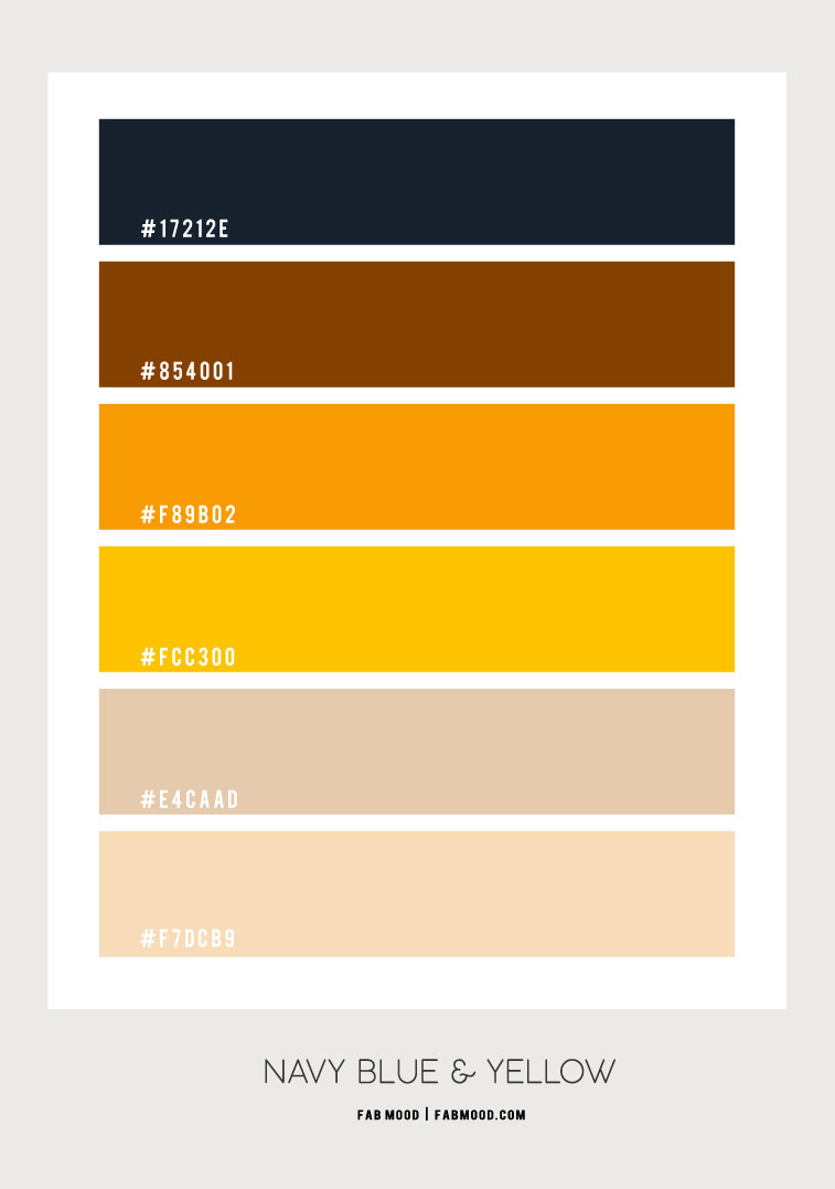 navy blue and yellow color scheme, navy blue and orange color scheme, dark blue and yellow, colour scheme , color combo, color palette, dark blue and orange , intense colors, summer color ideas