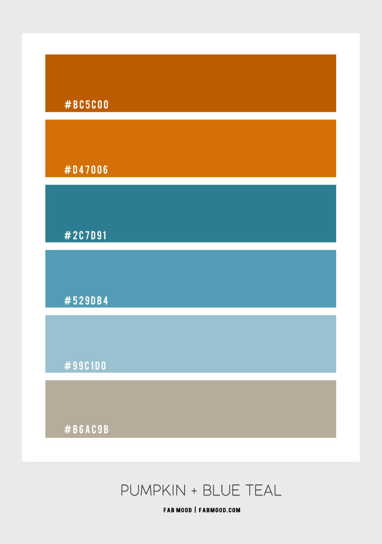 amber and blue teal, spice and dusty teal, amber color scheme, amber color palette, amber color combo, amber and teal color scheme