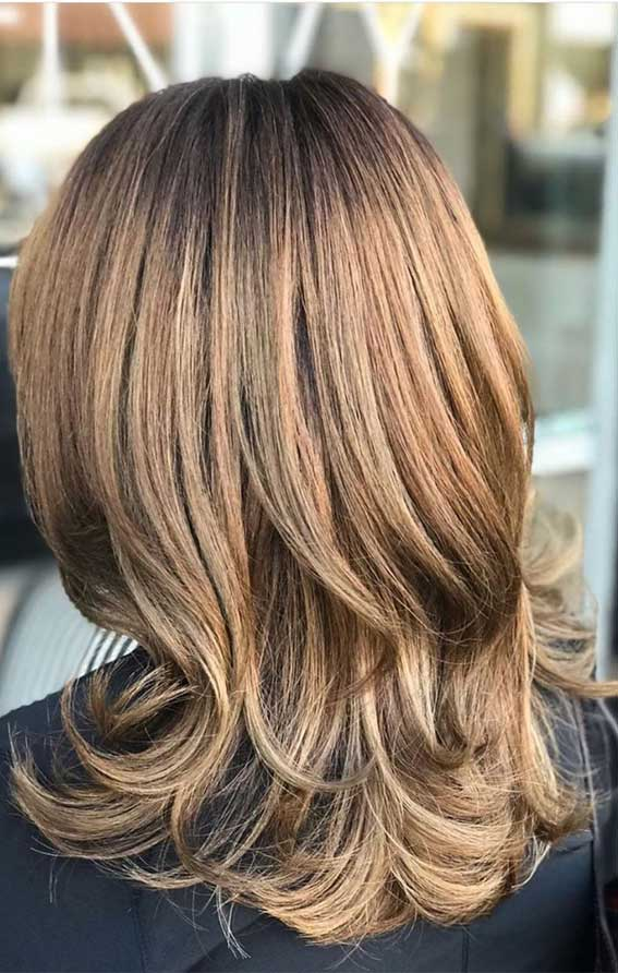 medium layered haircuts, layered hairstyles, layered haircuts, short medium layered haircuts, layered haircuts with bangs, medium layered haircuts 2020, layered haircuts 2020, layered haircuts for long hair, long layered hair, babylight hair color #haircuts #layeredhaircuts #mediumlayeredhaircuts #layeredhairstyles