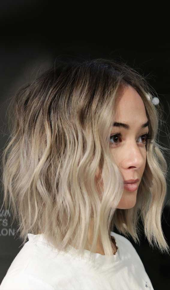 low maintenance haircut, low maintenance hairstyle, dimensional blonde, lob haircut, lob hairstyle