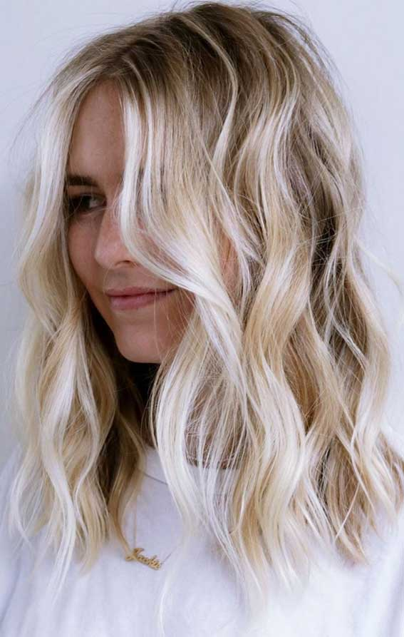 low maintenance haircut, low maintenance hairstyle, dimensional blonde, lob haircut, lob hairstyle