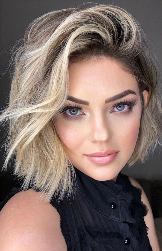 bob haircut, bob blonde hair color, blonde bob haircut idea