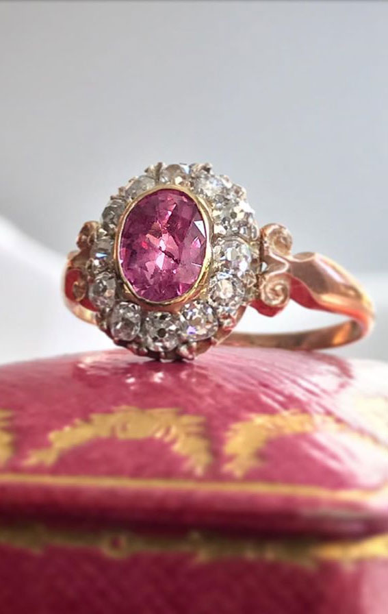 Vintage Cluster Engagement Rings { One-of-a-kind engagement rings }