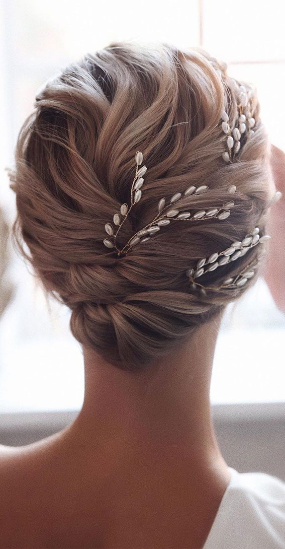 bridal updo, wedding hairstyles, updo for wedding guest, wedding updos for medium length hair, wedding hairstyles, wedding updo hairstyles for black hair, wedding hairstyles for long hair. romantic wedding updos