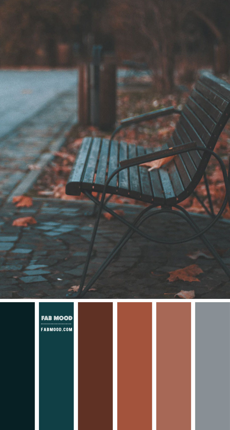 Brown & Dark Green Teal Colour Scheme – Colour Palette #104