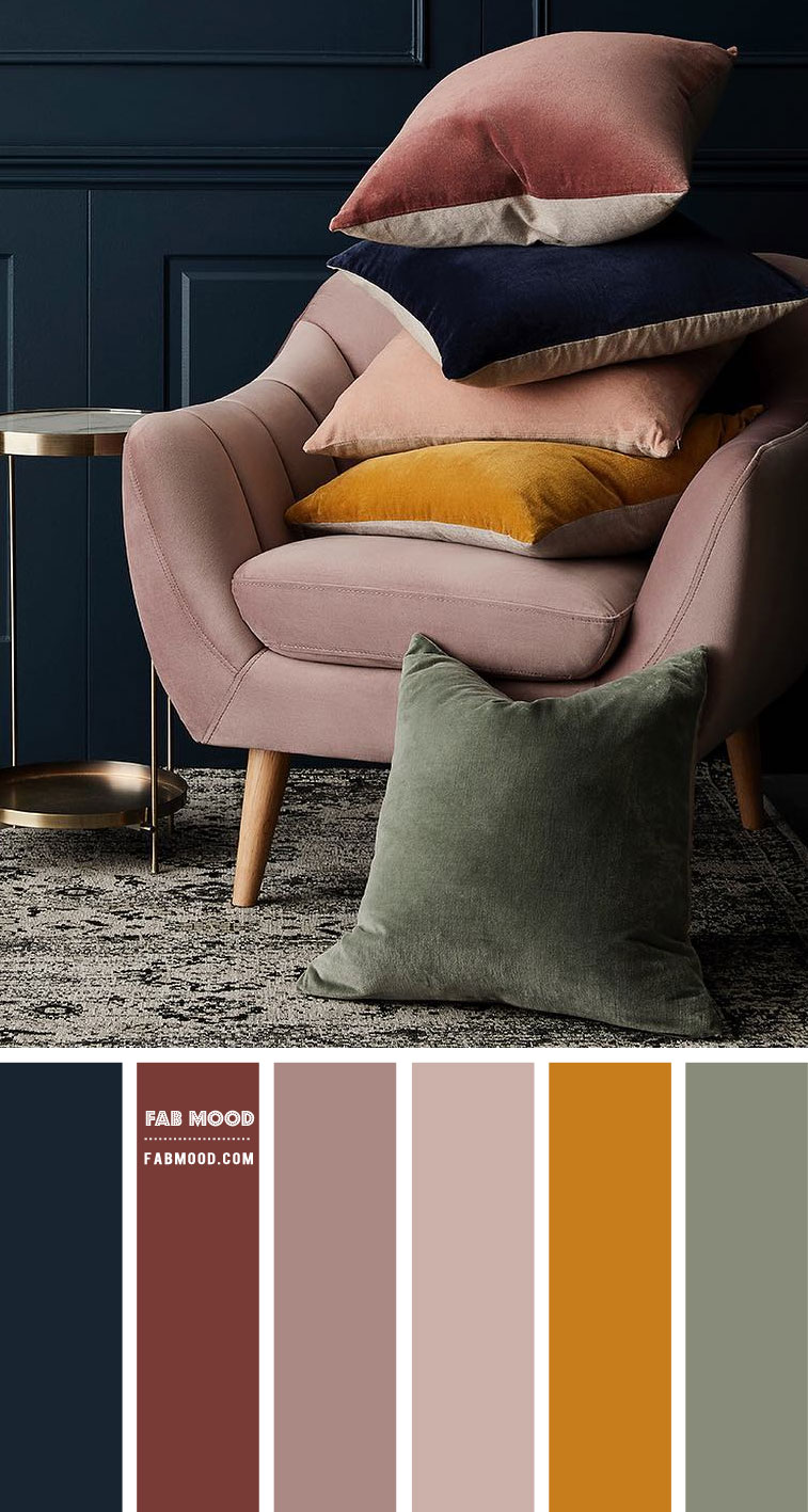 Navy Blue and Mauve Colour Scheme – #ColourPalette 108