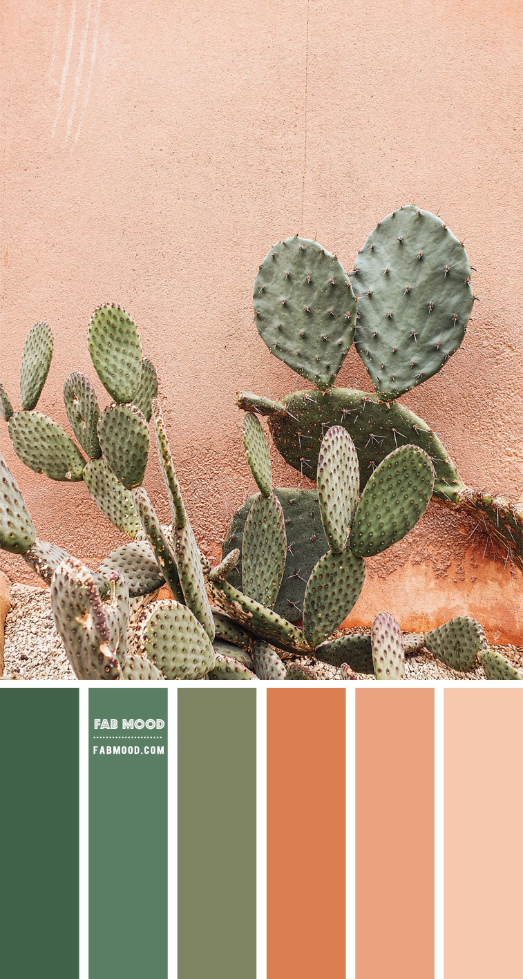 Chive Green and Terracotta Colour Scheme – Colour Palette #99