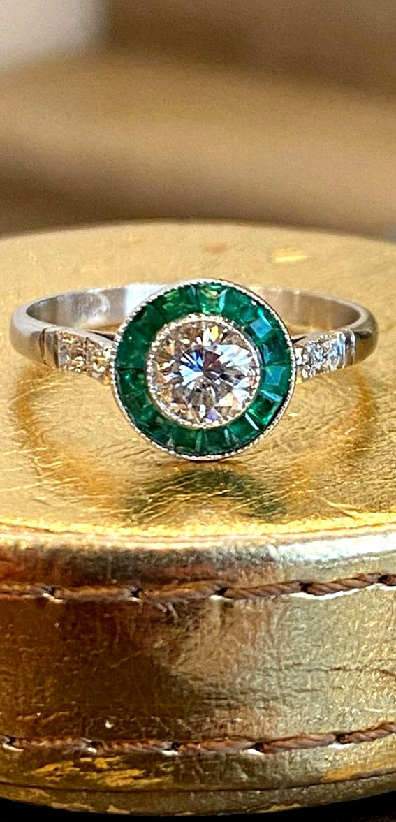 emerald art decor ring, halo art deco engagement rings, best art deco engagement rings, art deco style engagement rings, art deco inspired engagement rings, art deco rings 1920, vintage engagement rings, vintage engagement rings 1920s