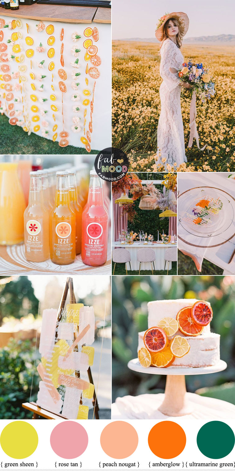 Sweet & Colorful Wedding Color Scheme That'll Make Your Big Day Pop