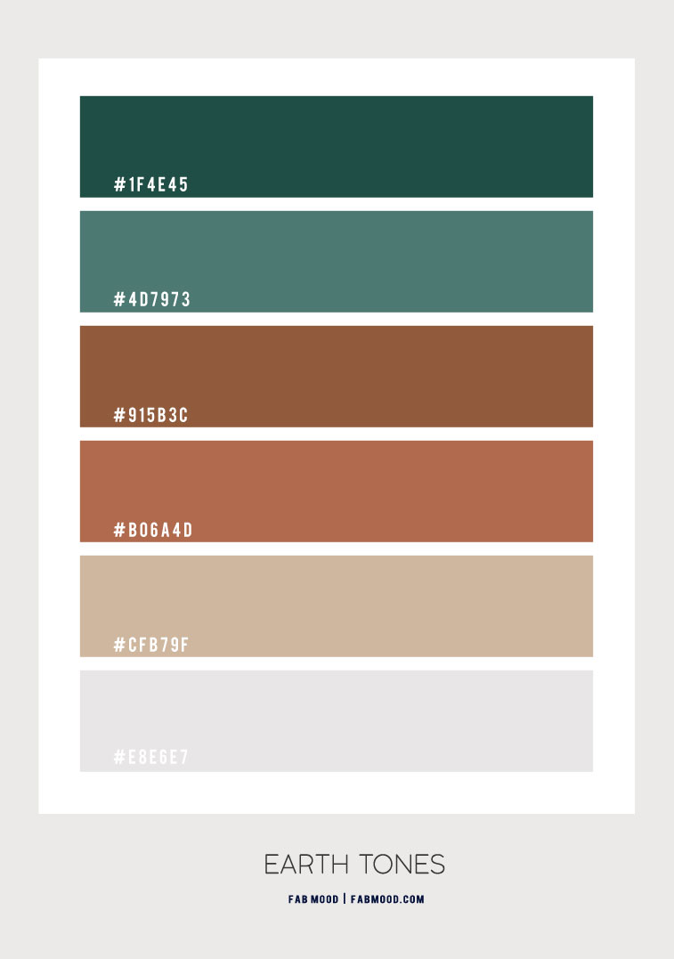 brown and green color combo, brown and green color scheme, earth tones color names, earth tones color palette , earth tones color ideas