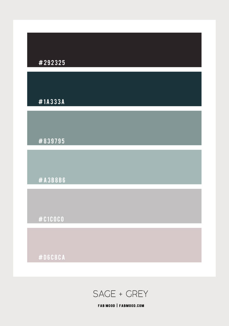 grey and sage colour scheme, grey and sage colour combination, sage and grey color palette, grey and sage colour palette
