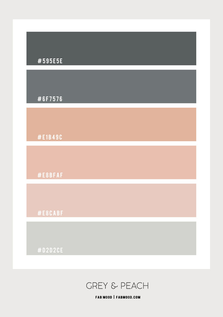 grey and peach color scheme, grey and peach, grey and peach color combo, color combination, color palette, color hex