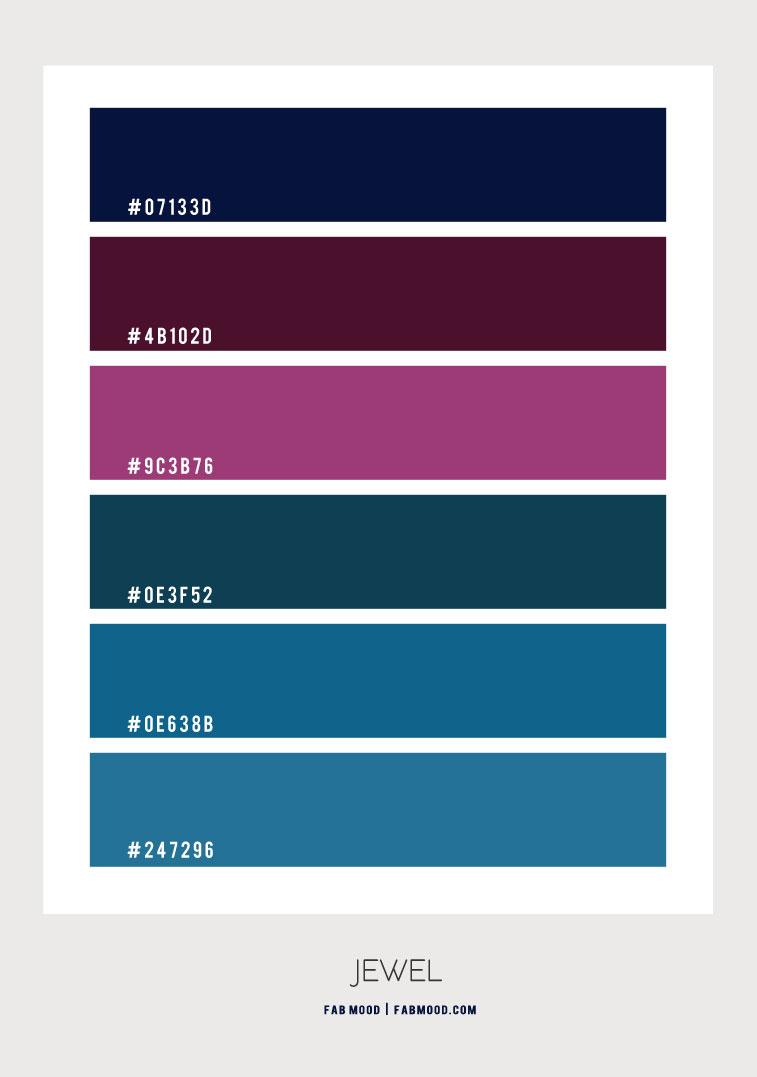 jewel tones color combo, jewel tones color palette, jewel tone colors home decor, jewel tone color names, jewel tone color schemes #colorpalette #jeweltones #colorscheme