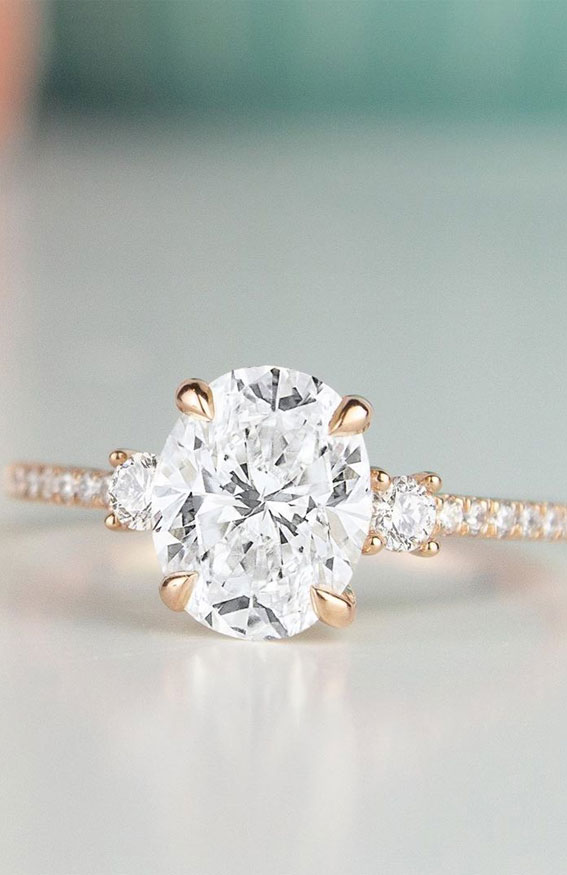 oval cut engagement ring , oval engagement ring