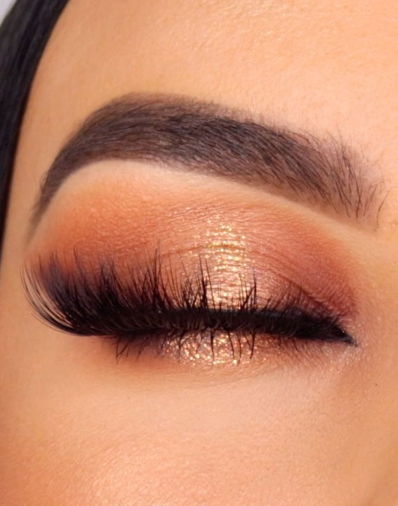 bronze eyeshadow look, eye shadow look, eye makeup look, make up ideas , eye shadow makeup look