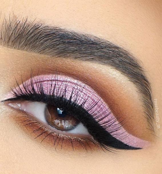 lilac cut crease makeup look, eye shadow look, eye makeup look, make up ideas , eye shadow makeup look