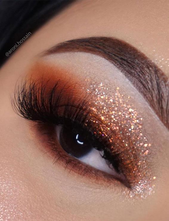 bronze eyeshadow look, eye shadow look, eye makeup look, make up ideas , eye shadow makeup look